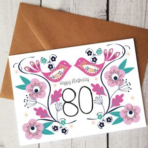 80th birthday card by Beautifully Obscene