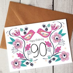 90th birthday card by Beautifully Obscene