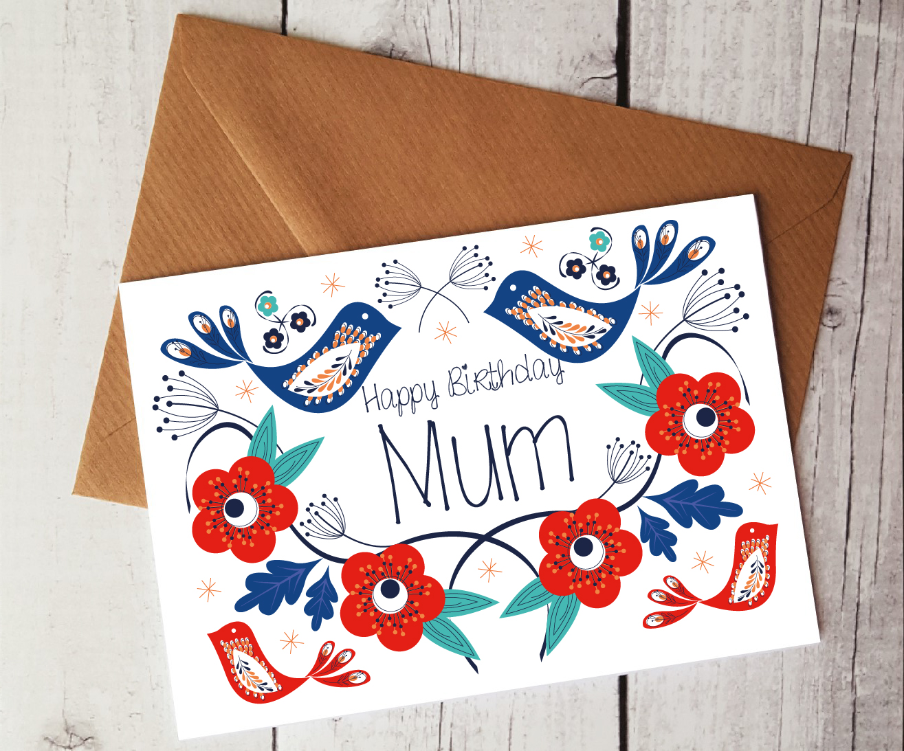 Happy Birthday Mum Card By Beautifully Obscene