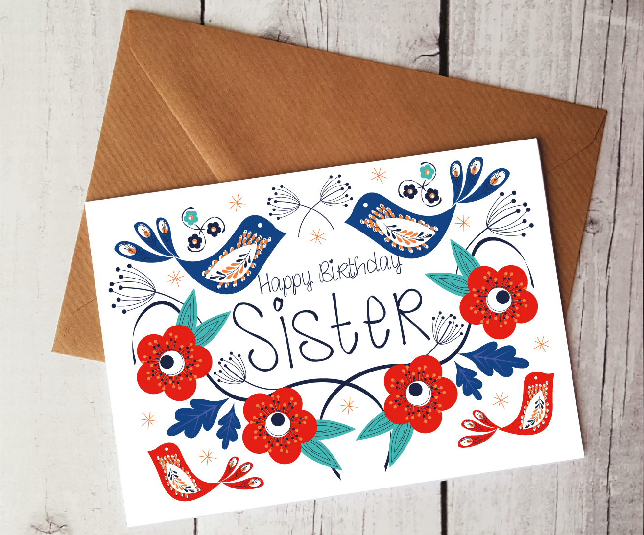 Happy Birthday Sister Card By Beautifully Obscene