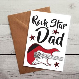 rock star dad occasion card by Beautifully Obscene