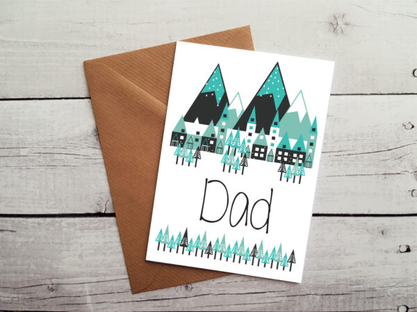 dad greetings card by Beautifully Obscene