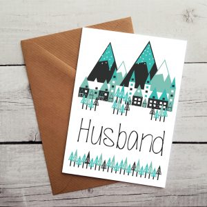 husband greetings card by Beautifully Obscene