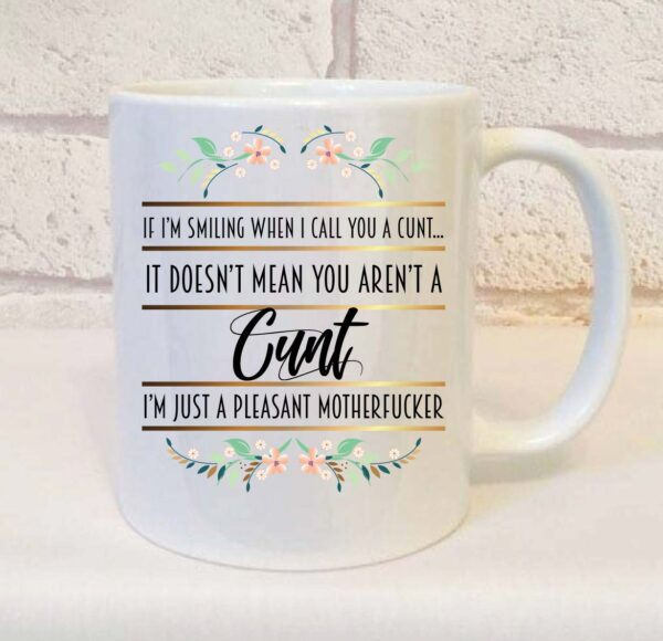 pleasant motherfucker mug by Beautifully Obscene