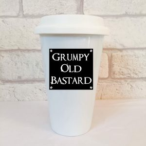 grumpy old bastard travel mug by Beautifully Obscene