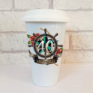40th birthday men's travel mug by Beautifully Obscene
