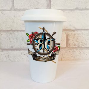 80th birthday men's travel mug by Beautifully Obscene