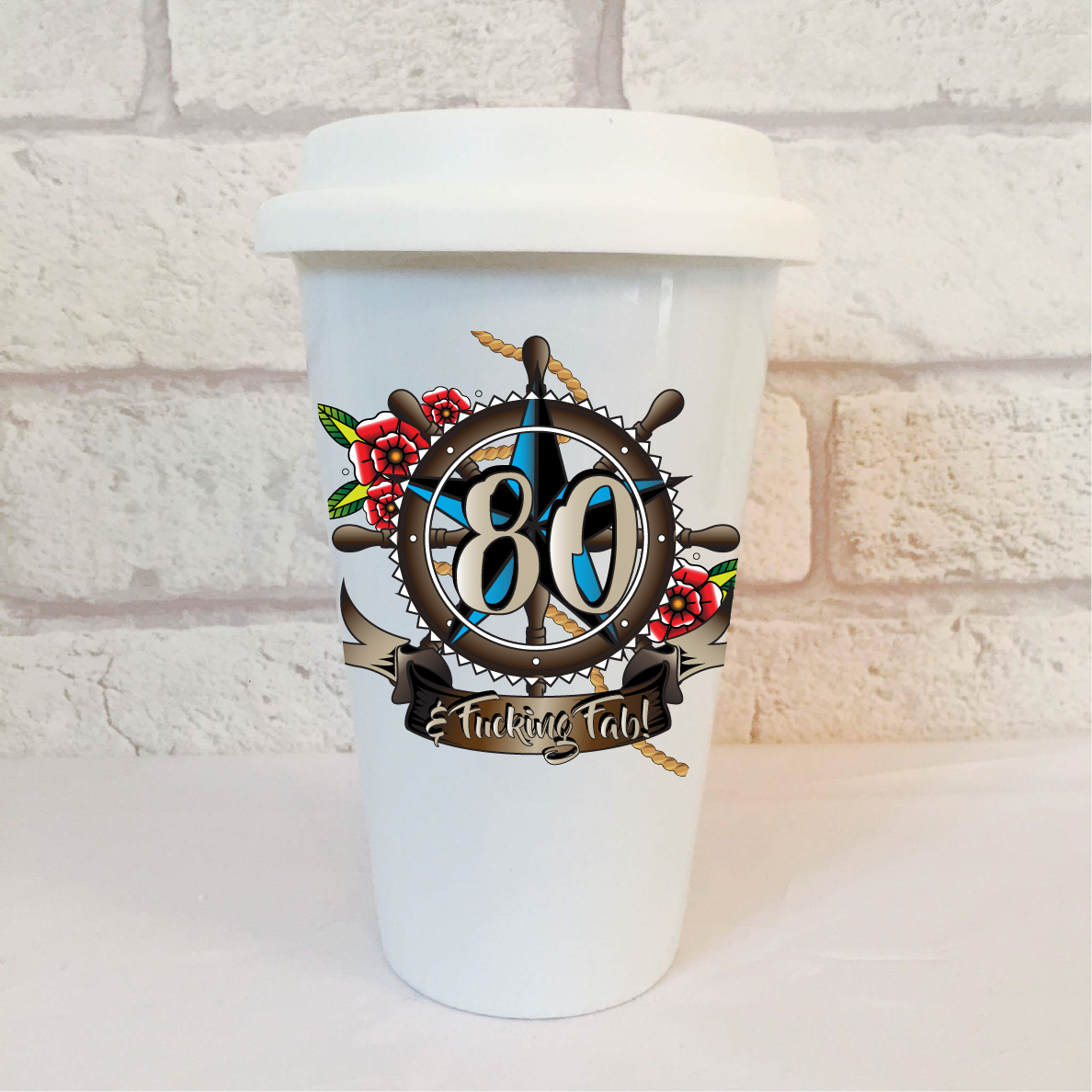 80th Birthday Mens Travel Mug By Beautifully Obscene
