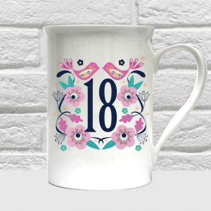 18th birthday bone china mug by Beautifully Obscene