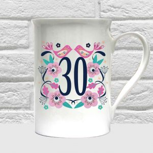 30th birthday bone china mug by Beautifully Obscene