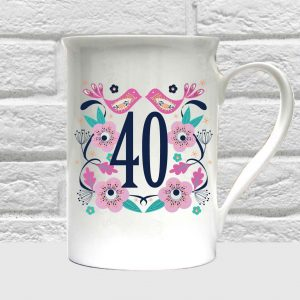 40th birthday bone china mug by Beautifully Obscene