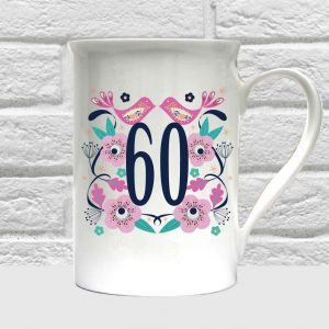 60th birthday bone china mug by Beautifully Obscene