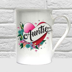 auntie bone china mug by Beautifully Obscene