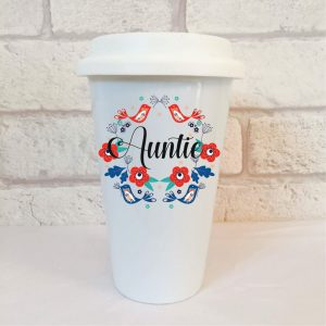 auntie travel mug gift by Beautifully Obscene