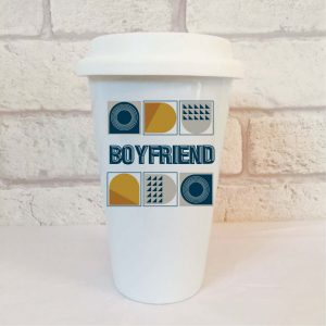 boyfriend travel mug by Beautifully Obscene