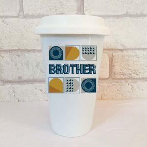 brother travel mug by Beautifully Obscene