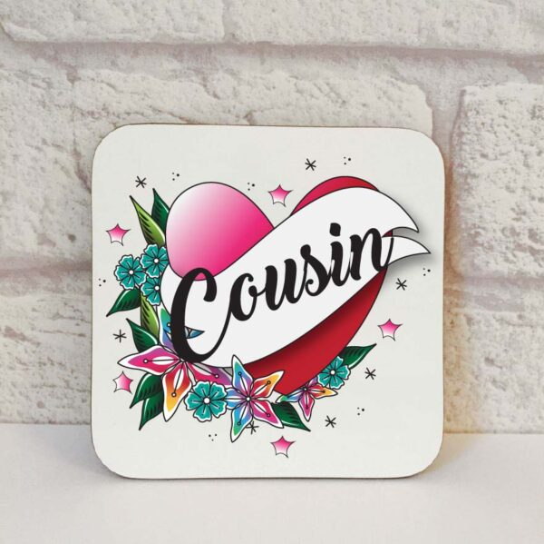 cousin drinks coaster by Beautifully Obscene