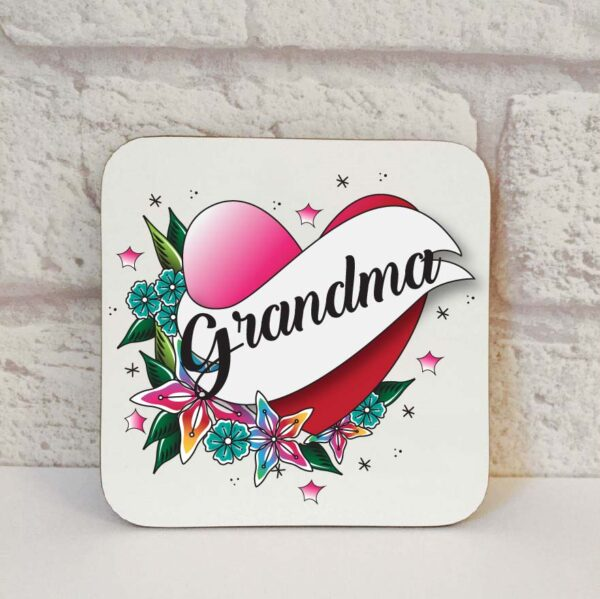 grandma drinks coaster by Beautifully Obscene
