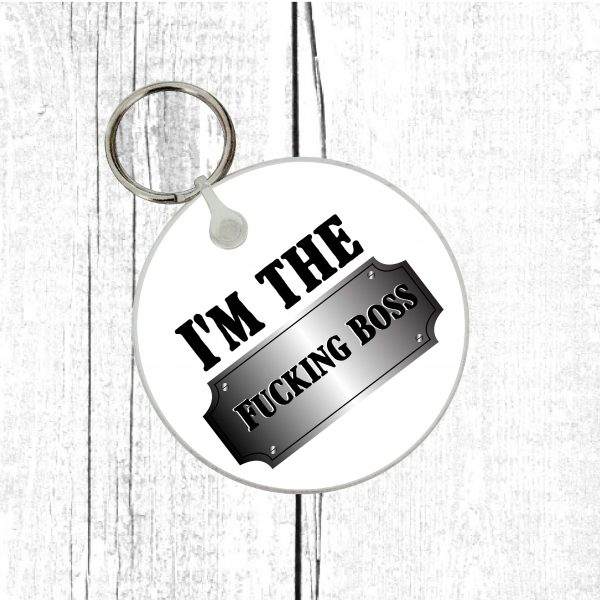funny boss quote keyring by Beautifully Obscene