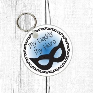 daddy my hero keychain by Beautifully Obscene
