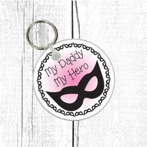 daddy my hero keyring by Beautifully Obscene