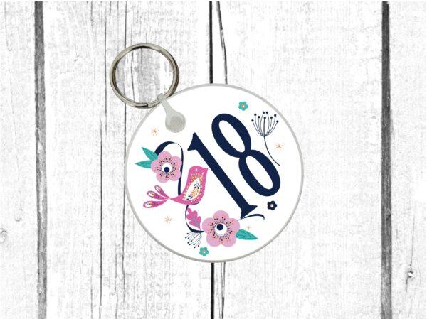18th birthday keyring by Beautifully Obscene