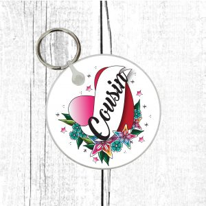 cousin keychain by Beautifully Obscene