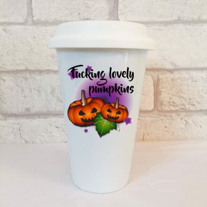 fucking lovely pumpkins halloween mug by Beautifully Obscene