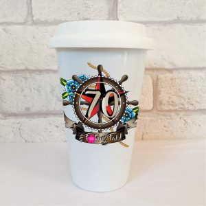 70th birthday men's travel mug by Beautifully Obscene