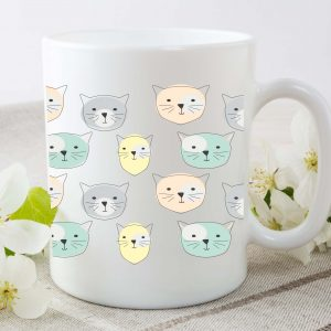 cute cat mug by Beautifully Obscene