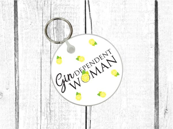 gindependant woman keyring by Beautifully Obscene
