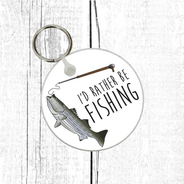 fishing lover keyring by Beautifully Obscene