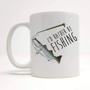 fishing lover coffee mug by Beautifully Obscene