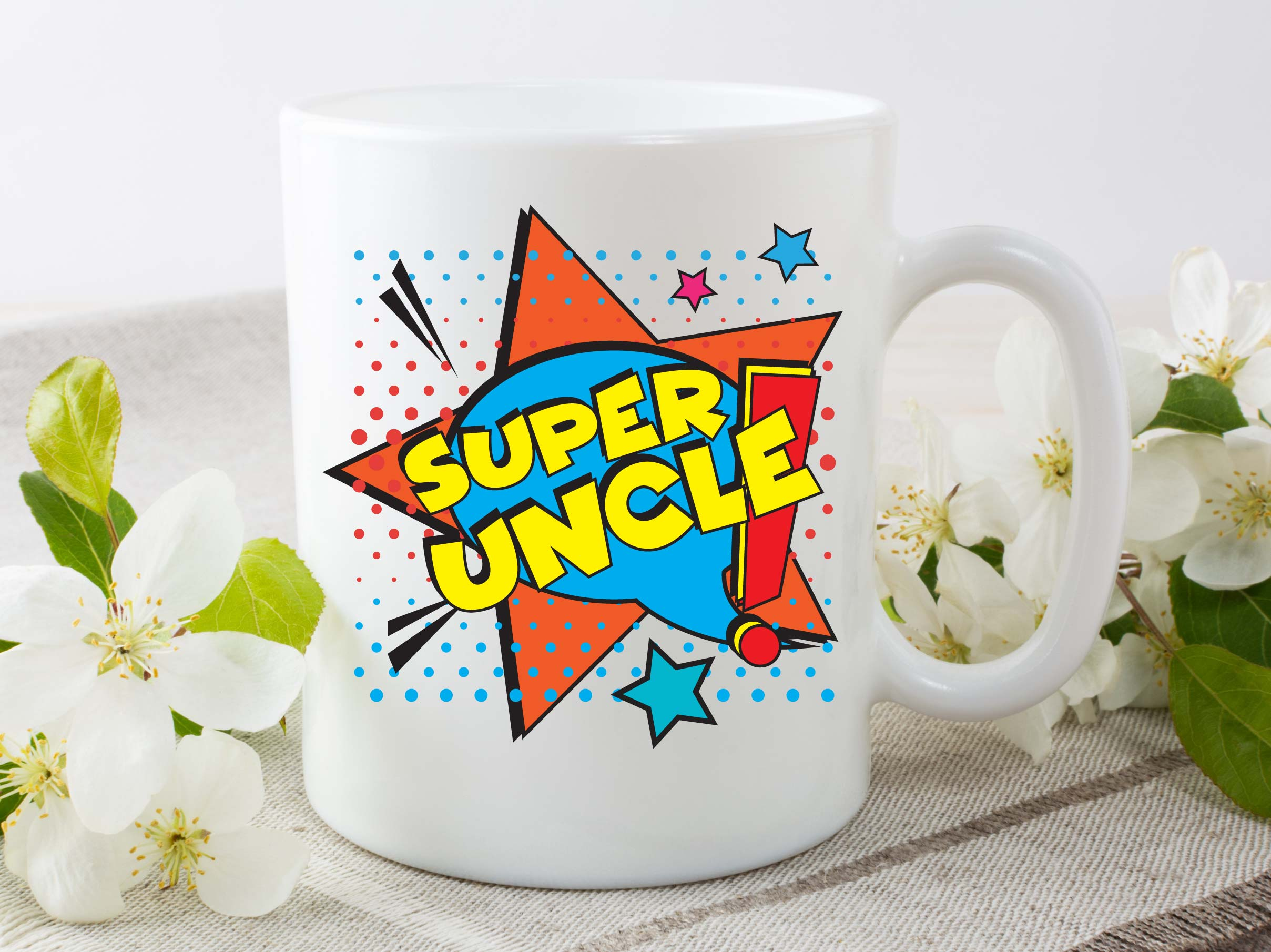 Super Uncle Mug By Beautifully Obscene