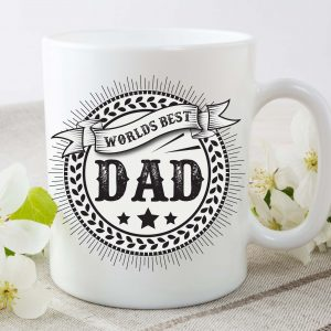 worlds best dad mug by Beautifully Obscene