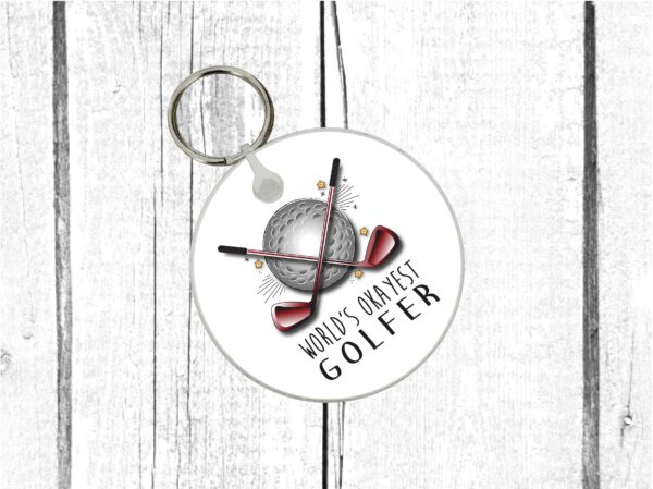 golf lover keyring by Beautifully Obscene