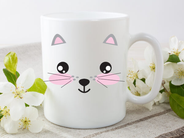 cute cat coffee mug by Beautifully Obscene