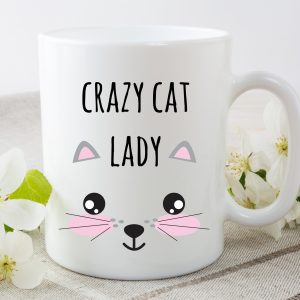 crazy cat lady mug by Beautifully Obscene