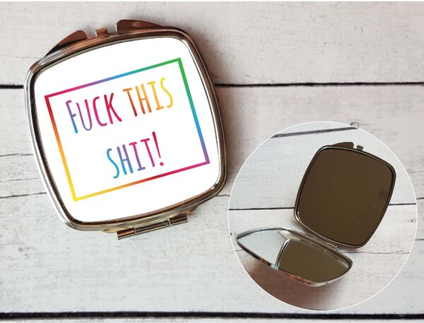 swearing compact mirror idea by Beautifully Obscene