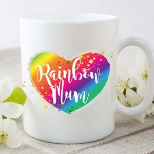 rainbow baby mum mug by Beautifully Obscene