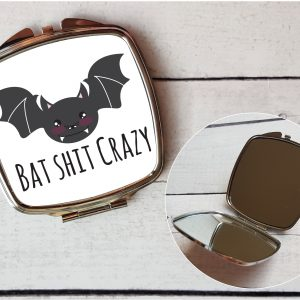bat shit crazy mirror by Beautifully Obscene