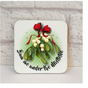 filthy christmas coaster by Beautifully Obscene
