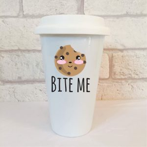 cookie travel mug by Beautifully Obscene