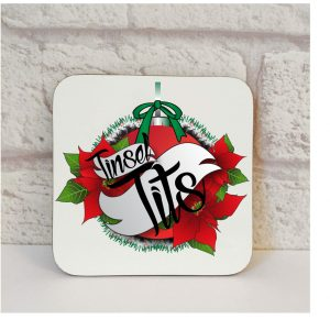 tinsel tits coaster By Beautifully Obscene