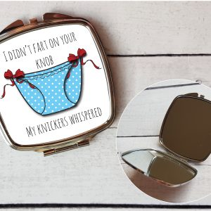 rude compact mirror by Beautifully Obscene