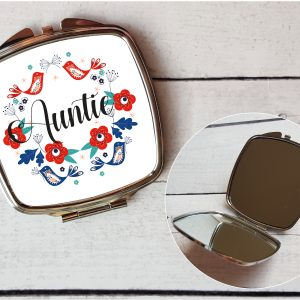 auntie compact mirror by Beautifully Obscene