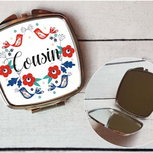 cousin compact mirror by Beautifully Obscene
