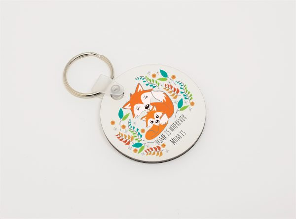 fox lover mum keyring by Beautifully Obscene