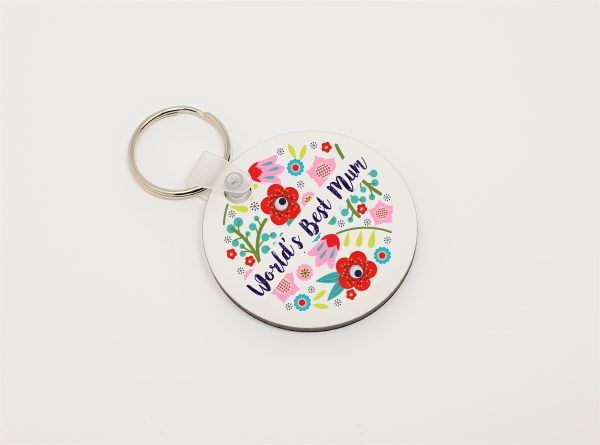 worlds best mum keyring by Beautifully Obscene
