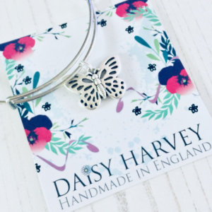 butterfly charm bracelet by Daisy Harvey Designs